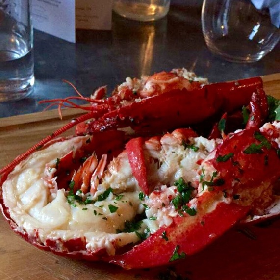 Scrumptious lobster and fries at Bel & the Dragon, Cookham